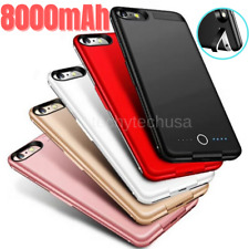 For iPhone 8 7 6 Plus SE External Battery Charger Case Power Bank Charging Cover