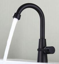 Bathroom Basin Faucet 360 Rotatable Sink Single Cold Single Handle Faucet Black