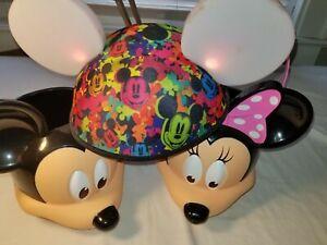 Disney Mickey MINNIE MOUSE TOY GIFT BASKET Figure Storage Bin Bucket & Lite Hat
