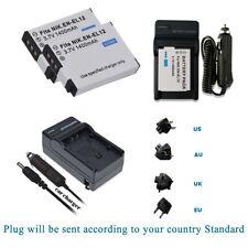 2x EN-EL12 Battery for Nikon Coolpix S31 / S9600  S9700 / P330  P340 +Charger