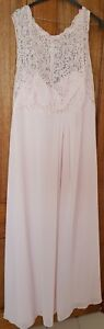 Bridesmaid/Formal Dress - Full length, Dusty Pink Colour (Size 24)