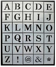 alphabet letter number stencils 40mm 50mm 60mm 4cm 5cm 6cm tall letters