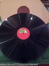 DISCO PIZARRA La Voz de su amo GRAMOFONO 78 EL CLAVE BIEN TEMPLADO Bach Preludio