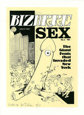 DENIS KITCHEN Bizarre Sex #1 LIMITED EDITION Signed/#'d SILKSCREEN PRINT 9/10