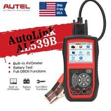Autel AL539B OBD2 Code Reader Battery Circuit Test Car Scanner Tool AVOmeter US