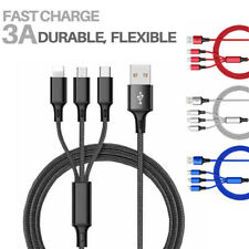 3in1 Fast USB Charging Cable Multi Function Cell Phone Charger Cord Universal US