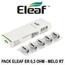 5 Résistances / Heads ELEAF ER 0,3 Ohm pour MELO RT 22 et RT 25 - AUTHENTIQUE