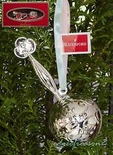WATERFORD 2013 BABY'S FIRST CHRISTMAS RATTLE TREE ORNAMENT BAUBLE