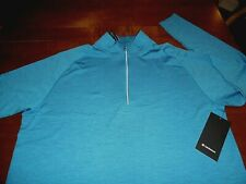 Lululemon 2Xl Xxl 1/2 Zip Metal Vent Tech Fitted or Xl as Loose Fit