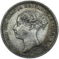 1887 SIXPENCE (YOUNG HEAD) - VICTORIA BRITISH SILVER COIN - NICE