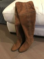 b6e70b07ec6dd NEW Michael Kors Malin Caramel Suede Leather Over The Knee Boot ...