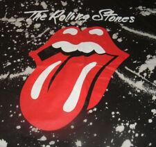 ROLLING STONES Black XL T-Shirt All Over Print Paint Splatter Tongue Lick NWOT