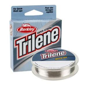 Berkley Trilene Micro Ice-Ice Fishing Line~Choose Wieght~Clear Steel 110YD