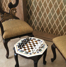 2'X2'  Marble Chess  Board  center cornerHand table top Inlay Pattern Beautiful