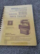 Seeburg Sps2 Esps2 Jukebox Service, Parts, Installation & Operation Manual