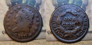 1810 Classic Head Large Cent 1c