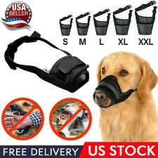 Dog Muzzle Mask Adjustable Mouth Grooming Anti Stop Bark Bite Pet Small & Large