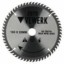 160mm x 60mm 20/16T TCT lame de scie circulaire Fine Carbure de tungstène