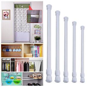 Small Curtain Rods Metal Loaded Pole for Bathroom Cupboard Wardrobe Window