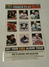 Power play 2002/2003 uncut 9-card sticker sheet promo