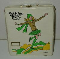 Vintage Vinyl 1960s MOD Miner Green Fashion Doll Wardrobe Carrying Case Rare