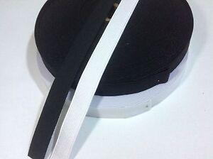 Flat Woven Elastic 19mm / 3/4inch wide Black/White Premium Grade-Mask Dress Pant