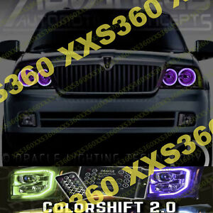 ORACLE Halo 2x HEADLIGHTS for Lincoln Navigator 03-06 ColorSHIFT LED 2.0