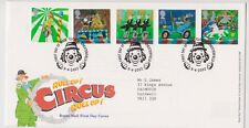 CLOWNE PMK GB ROYAL MAIL FDC FIRST DAY COVER 2002 CIRCUS STAMP SET