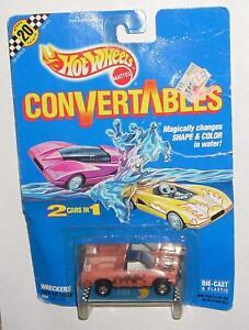 1990 Hot Wheels Convertables Wreckers Pick Up Truck HTF Rare MOC Blue Card