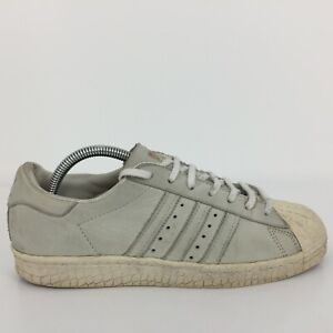 Adidas Superstar 80s Grey Leather Sports Trainer Sneaker BB2715Size UK 7 Eur 40