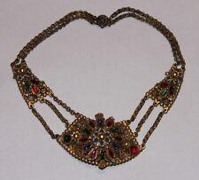 "Vintage ""Thief Of Bagdad"" Rice Weiner Korda Multi Color Jeweled Collar Necklace"