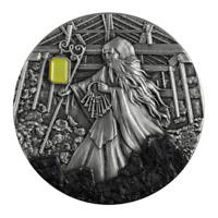 2021 Niue $5 Skarbek Spirit of the Coalmine 2 oz Silver Coin w/Amber - 500 Made