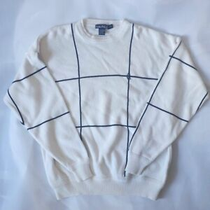 Cotton Nautica B&W Pattern sweatshirt Size L