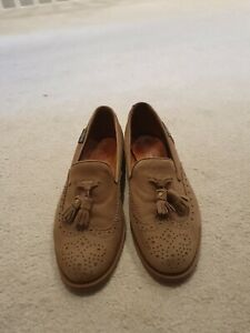 Russel And Bromley 39.5 Beige Suede Loafer