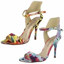 Canvas Floral Strappy, Ankle Straps Heels for Women