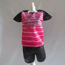 NEW Barbie Made to Move Doll Soccer Outfit Black & Pink Top & Shorts ~ Clothing