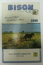 Vintage 1969 BISON, KANSAS Telephone Directory Phone Book Yellow Pages