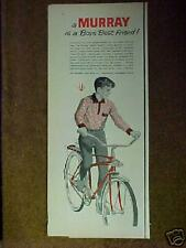 "1965 Murray ""Space-Weight"" Boys Bicycle Memorabilia Promo Bike Print AD"