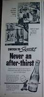 1953 Squirt Soda Never After Thirst Boys Basketball Ad
