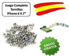 "JUEGO SET PACK KIT LOTE TORNILLOS COMPLETO IPHONE 6 6G 4.7"" NUEVO . ESPAÑA"