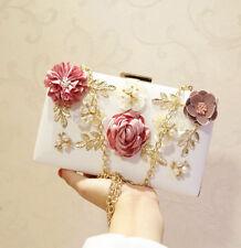 Women Evening Handbag Wedding Flower Beaded Clutch Purse Bags Bridal Bag Purse