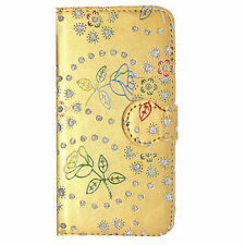 Jewelled Synthetic Leather Mobile Phone Bumpers for Apple