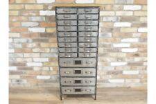 Office Multi Draw Tall Multi Storage Metal Chest - Industrial / Retro Design