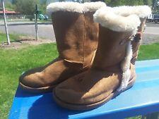 Airwalk Women Winter Boots Brown textile upper Faux fur Lining Size US 7
