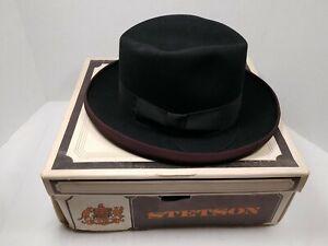 Vintage Stetson Royal DeLuxe St Regis Homburg Hat Size 6 7/8 w/Box Jacob Reed's