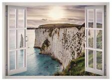 Nature Landscape  Window 3D Wall Decal Art Mural Home Decor Canvas Vinyl W77
