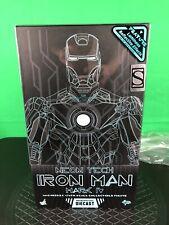 2018 Hot Toys Toy Fair Exclusive Diecast Blue Neon Tech 1.0 Iron Man Mark IV 4