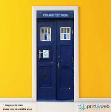Dr Who Tardis Box Vinyl Door Wrap Decal Sticker Self Adhesive Police Box Bedroom
