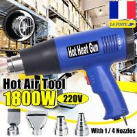 1800W Décapeur Thermique Pistolet à Air Chaud Gun Réglable Température 220V