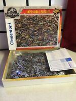 CLEMENTONI JURASSIC WORLD IMPOSSIBLE PUZZLE 1000 PIECE JIGSAW